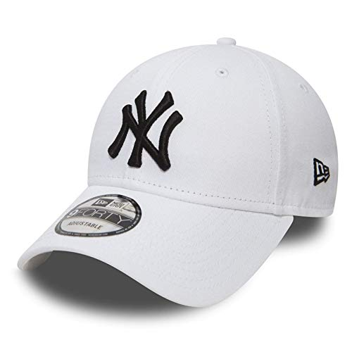 New Era 9forty Strapback Cappello MLB York Yankees Los Angeles Dodgers Uomo Donna Cappello Berretto Cappello Bundle con UD Bandana - NY Bianco #2509, Adjustable
