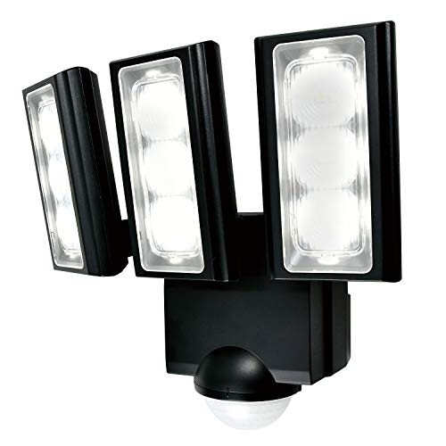 エルパ 乾電池式 センサーライト 3灯 省エネ 安心の防水仕様 広範囲照射可能 フラッシュ・赤点滅機能搭載 ESL-313DC