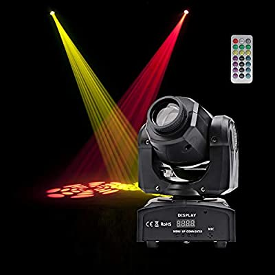 HSL LED Moving Head Light Gobo Spotlight DMX512 LED Stage Lighting DJ Equipment Home Party Wedding Club Christmas Disco Stage Lights by HSL