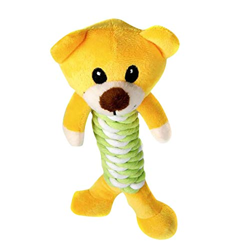 Fasclot Knotted Small Animal Pet Toy Cotton Rope Sound Molar Teeth Resistant to Play Dog