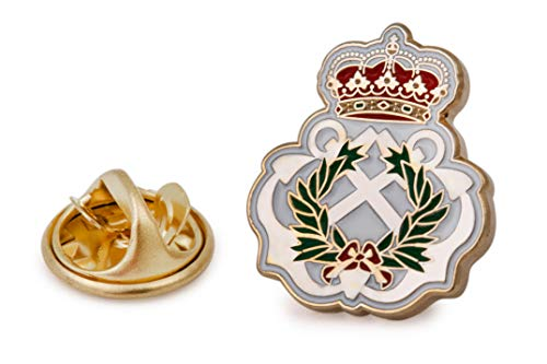 Gemelolandia | Pin de Solapa del Escudo de la Escuela Naval Militar 18 mm | Pines Originales Para Regalar | Para las Camisas, la Ropa o para tu Mochila | Detalles Divertidos