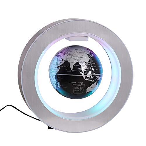 Floating Magnetic Levitation Globe Rotating World Map Globe with LED Light...