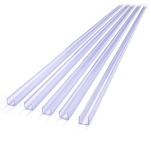 DELight 20Pcs 39 3/8' x 1/2' Clear PVC Channel Mounting Holder Acc for Flex LED Neon Rope Light 65' Total Length