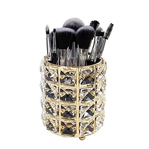 GDYJP Lápiz Artesanal de Cristal/con Titular de la Pluma del Pincel de Maquillaje Organizador cosmético for vanidad,baño,Dormitorio,Escritorio de Oficina (Color : C, Size : 10x12cm)