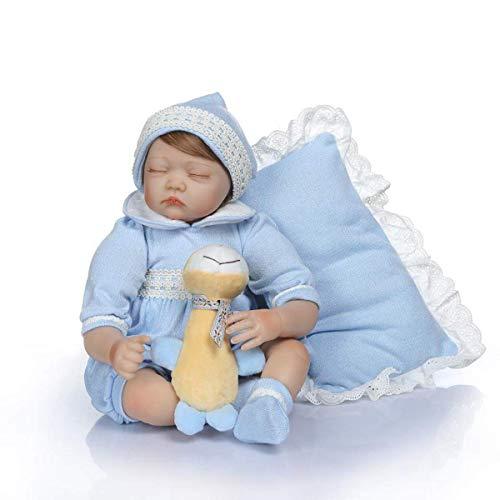 22 Pulgadas 55 cm Vida Real Recién Nacido Hermoso soñador Vinilo de Silicona Suave Dormir Reborn Baby Girl Dolls Look Realista Hora de Dormir Compañeros de Juego