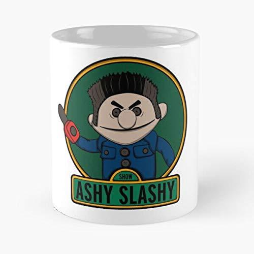 KiwLa Raimi Army Ashy Deadites Sam Slashy Ash of Evil Darkness Williams Dead Deadite Taza de café con Leche 11 oz