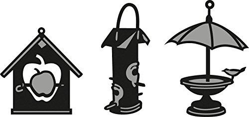 Marianne Design Craftable ponsvorm Tiny's vogelhuisje 2-Cutting Die, Steel, grijs, 16 x 11.5 x 3 cm