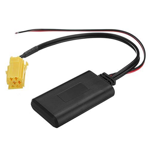 YONGYAO Coche Bluetooth Receptor Adaptador AUX Cable estéreo Radio para Renault Clio Kangoo Megane Scenic 2005-2011 12V