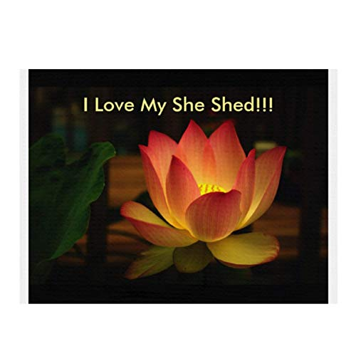 I Love My SHE SHED!!! Lotus Cotton Kitchen Dish Drying Mat Ultra Absorbent Microfiber Dishes Drainer Mats for Kitchen Counter 15.7X11.8 inch