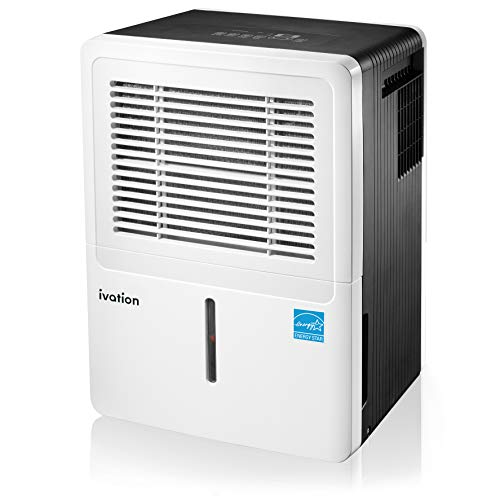 Ivation 4,500 Sq Ft Large-Capacity Energy Star Dehumidifier - Includes Humidistat, Hose Connector, Auto Shutoff/Restart, Casters & Air Filter