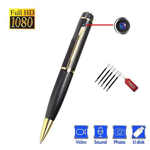 Kleine Versteckte Stift Spionage Kamera – Getarnt Spion kameras Mini Tragbare Kugelschreiber Überwachungs Full HD 1080P Für Besprechungen Vorträge Notizen Usw