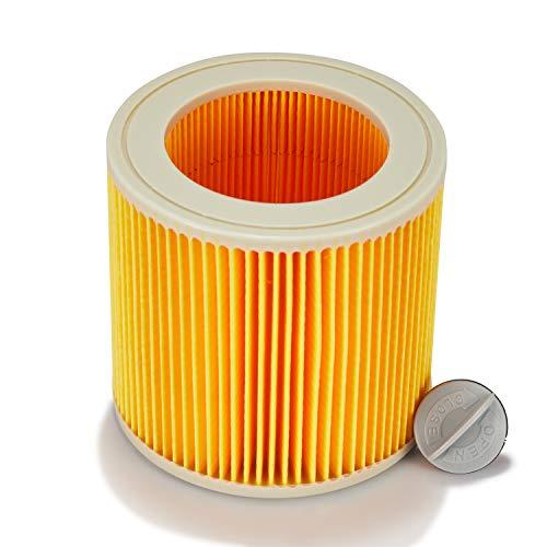 Supremery filtro de cartucho para aspiradora Kärcher WD2 WD3 MV2 MV3 WD 2.200 WD 2.500 M WD 3.200 / WD 3.300 M/WD 3.500 P/SE 4001 / SE 4002