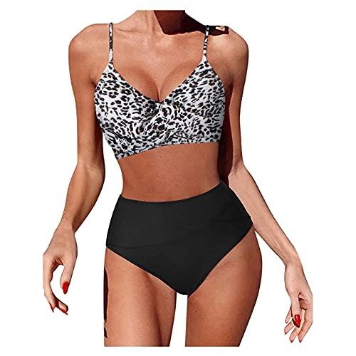 NEZIMI Costume da Bagno Donna Fionda Attraversare A Vita Alta Bikini Push Up Multicolore Bikini 2 Pezzi Costumi Spiaggia Trasparente Sexy Mare Hot Beachwear Bikini Sexy Stampa Swimsuit