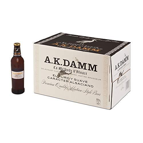 Cerveza Alsaciana A.K. Damm Caja de 24 Botellas 33cl