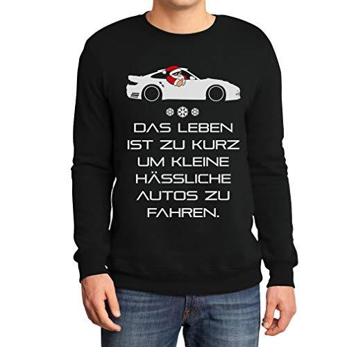 Xmas Das Leben Ist Zu Kurz Um Kleine Hässliche Autos Zu Fahren Sweatshirt Medium Schwarz
