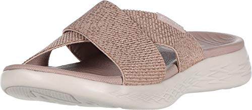 Skechers Women's ON-The-GO 600-16259 Slide Sandal, Rose Gold, 8 Medium US