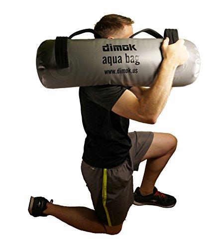 dimok Equipo de Ejercicio de Cuerpo Completo con Bolsa de Arena para Ejercicios alternativos con Bomba y Pesas de Entrenamiento 75 x 25 cm Gris