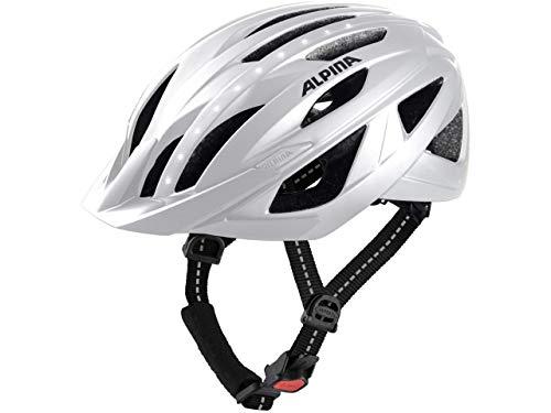 Alpina Sports Unisex– Adult's Haga LED Cycling Helmet, White, 55-59 cm