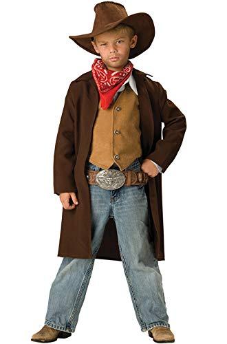 InCharacter Déguisement Cowboy pour Enfant - Premium - 8-10 Ans (132-140 cm)