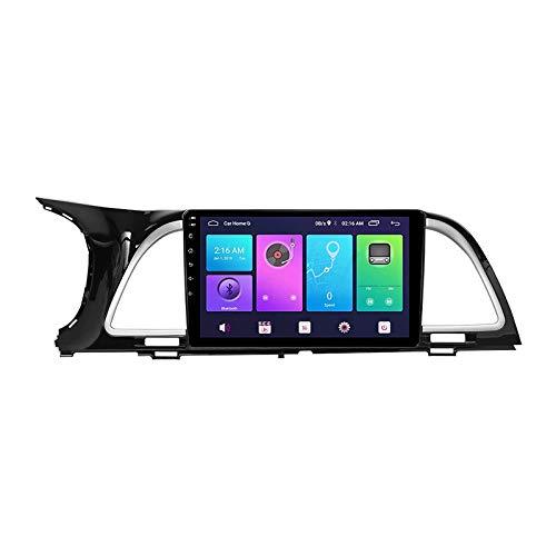 GPS Navigator Coche Stereo Touch Pantalla táctil Bluetooth FM AM Radio Receptor Video Música Player para KIA K4 Cachet 2017-2019 con controles de volante WiFi,8 core 4g+wifi: 4+64gb