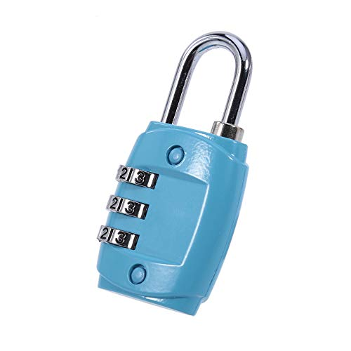 Aimiyaelec Luggage Lock, Alloy Body with Suitcase, Suitcase, Locker, Gym, Bicycle Lock-Blue