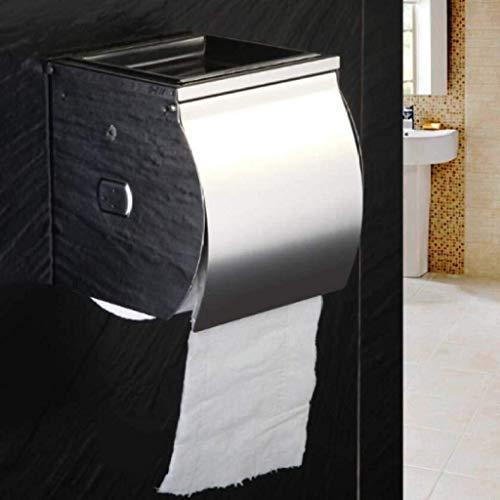 PLKZ Toilettenpapierhalter, Edelstahl-Gewebe-Kasten Mit Aschenbecher, Der Garantiert Nicht Rostend Haltbarkeit