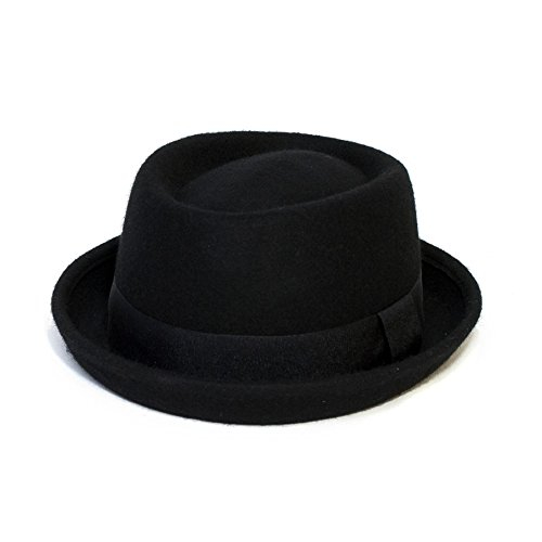Hat To Socks Plain Band Gelegenheits Pork Pie Hat