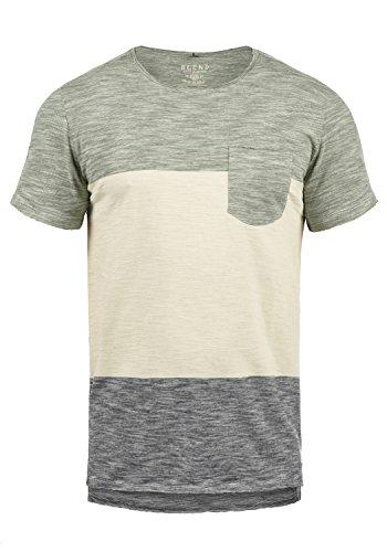 Blend Johannes Herren T-Shirt Kurzarm Shirt Mit Rundhalsausschnitt Aus 100% Baumwolle, Größe:XL, Farbe:Dusty Olive Green (77203)