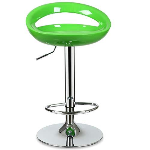 WGZ- Chaise de bar Café Chaise lève-fauteuil Famille Tabouret de bar Tabouret haut Tabouret de bar Bleu Multicolore La mode (Color : Green)