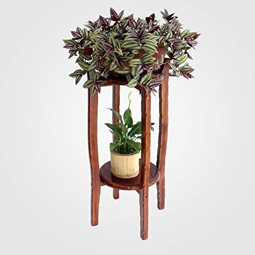 ZZHF huajia Support de fleurs, support de fleurs en bois massif multicouche pour salon intérieur (taille : 80 * 29 * 29CM)
