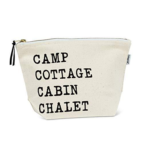 Abbott Collection - Bolsa para Campo, 7 x 10,5 cm, Color Marfil/Negro