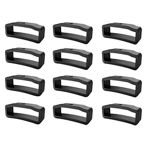 Verschlussring für Fenix5X/5X Plus/Fenix 3/Fenix 3HR,Colorful 12-Pack Uhrenarmbänder Silikon Sichere Schleife für Fenix5X/5X Plus/Fenix 3/Fenix 3HR Armband Zubehör