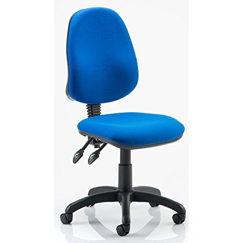Dynamic Eclipse II Lever Task Operator Chair without Arms - Blue by Dynamic