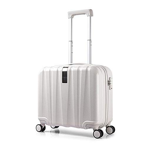 Bewinch Spinner Suitcase, 16 Inch, Suitcase Hand Luggage,Aluminium Frame 4 Silent Double Wheels Hard Shell Lightweight TSA Lock, (Can Board The Plane),Lvory,16inch