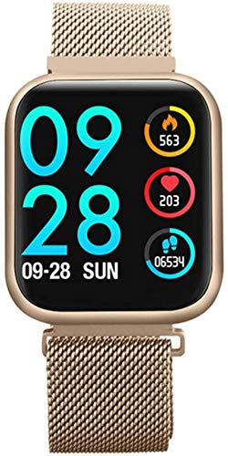 Reloj inteligente Reloj de pulsera Actividad Fitness Tracker Imagen personalizada Impermeable Fitness Band Recordatorio de llamada Deporte Hombres Mujeres Smartwatch Pulsera Rosa Oro