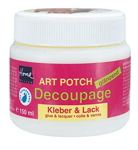 Kreul 48151 - Art Potch Decoupage Kleber und Lack glänzend, 150 ml, auf Wasserbasis, trocknet schnell und transparent