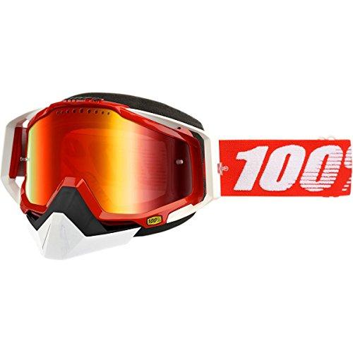 100% Lunettes de motoneige RACECRAFT Feu Rouge - Miroir Rouge Ventilé Double lentille