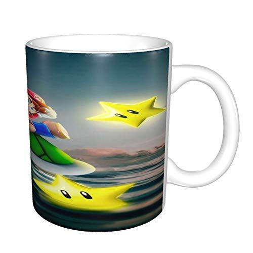 Super Mario - Taza de café divertida, diseño de The Office y té mágico con cita alegre, para amigos de oficina, hombres y mujeres