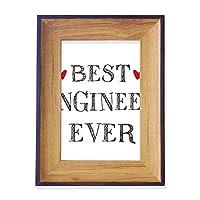 これまでに最高のエンジニアを引用する職業 フォトフレーム、デスクトップ、木製