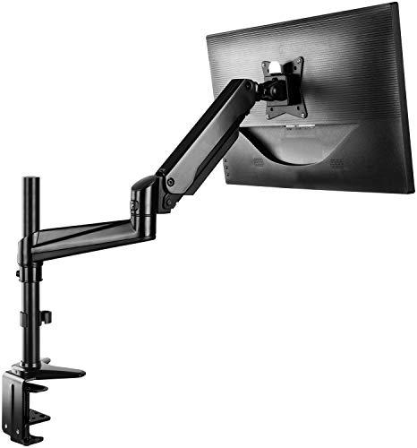 HUANUO 13-32 Zoll Monitor Halterung Höhenverstellbar, Aluminum Gasdruckfeder Arm 360° Drehbar, 2 Montageoptionen