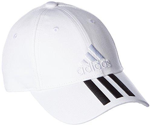 adidas 6P 3S Cap Cotto Gorra de Tenis, Hombre, Blanco (Blanco/Negro/Blanco), Talla única