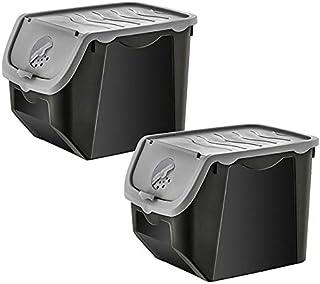 DHGFH 12 litres Plastique Acrylique 1/2/4 Cuisine Boîte De Rangement Conteneur Pommes De Terre Oignons Bac Organisation Se...