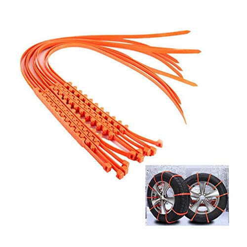 Ketofa Anti Slip Tire Chains Snow Tire Chains for SUV Car Van ATV Jeep Compatible With Toyota...