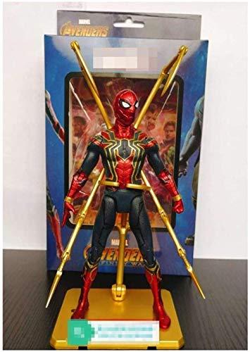 HTDZDX Modelo de Juguete Vengadores increíble Spider-Man Yamaguchi Venom extraíble E-Light joyería Anime Juguetes