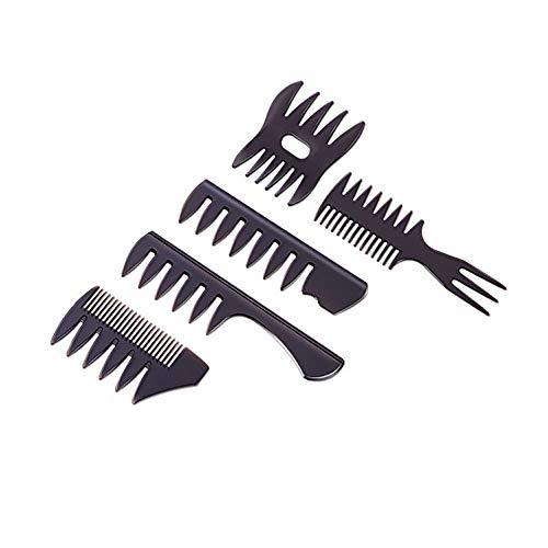 5 Pezzi Pettine Capelli Uomo Professionale Set,Pettine a Denti Larghi,Pettine per lo Styling dei Capelli olio Ottimo per Tutti i Tipi di Capelli