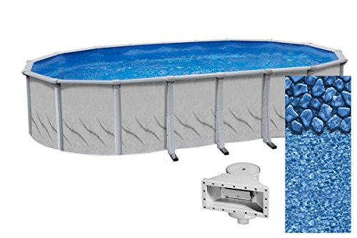 Wilbar Meadows Reprieve 24-Foot Round Above-Ground Swimming Pool | 52-Inch Height | Resin Protected...