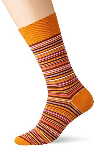 FALKE Herren Socken Microblock, 91% Baumwolle, 1 Paar, Orange (Mandarin 8216), Größe: 41-42