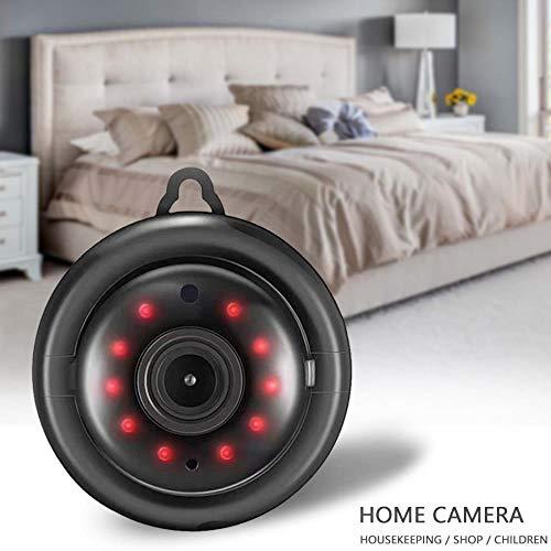 WPOS WiFi-Kamera IP-Kamera CCTV Mini-Funkkamera 1080P IR-Nachtsicht-Bewegungserkennung Audio-Heimsicherheit mit Ständer, ohne Licht 128G hinzufügen, EU-Stecker