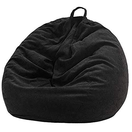 Kutera Zitzak, 70 x 80 cm, zachte sofas, bekleding, stoelen, bekleding, met binnenvoering, warme ligstoel, zitzak, poef, bank, tatami, woonkamer zwart