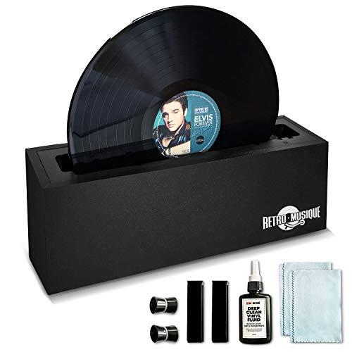 Retro Musique Vinylaufzeichnung Saubereres System. Alles müssen Sie beruflich tief reinigen und Ihre Alben und EP'S wiederherstellen.